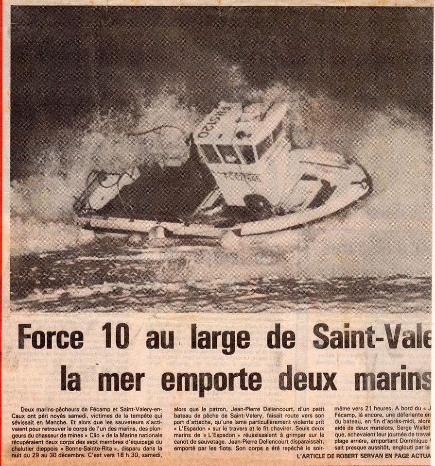 L espadon fc naufrage 12 1985